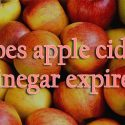 does apple cider vinegar expire